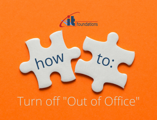 """How to turn off """"Out of Office"""""""